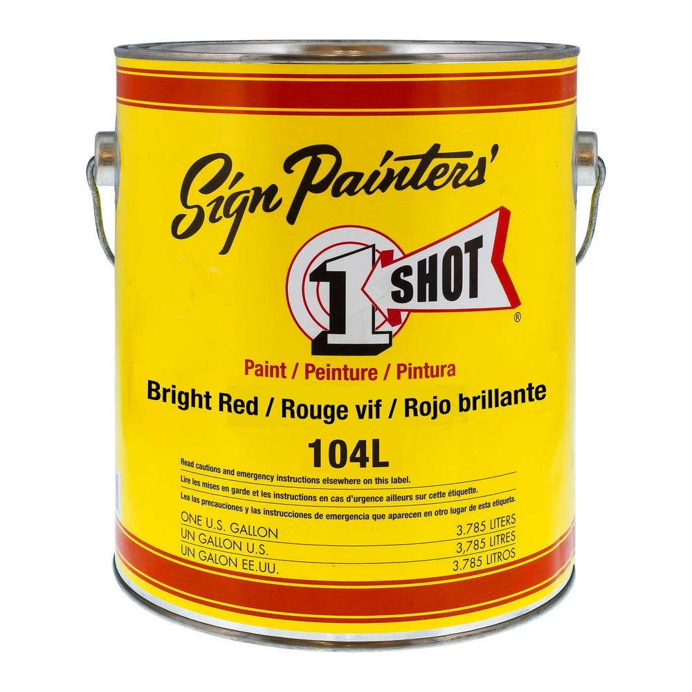 Lettering Bright Red Pinstriping Lettering Enamel Paint, Gallon