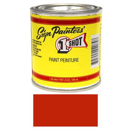 Bright Red Pinstriping Lettering Enamel Paint, 1/2 Pint