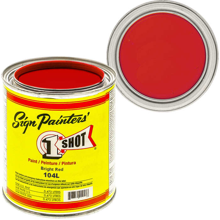 Bright Red Pinstriping Lettering Enamel Paint, 1 Pint