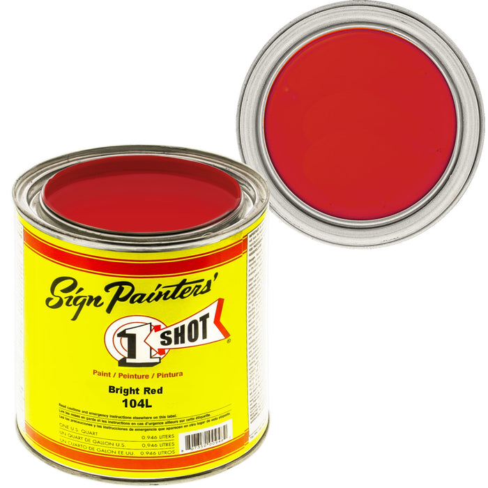 Bright Red Pinstriping Lettering Enamel Paint, 1 Quart