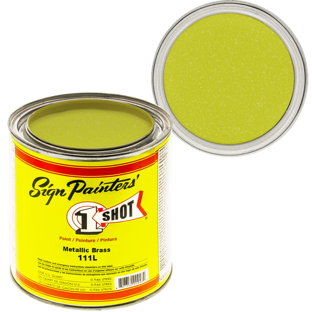 Metallic Brass Pinstriping Lettering Enamel Paint, 1 Quart