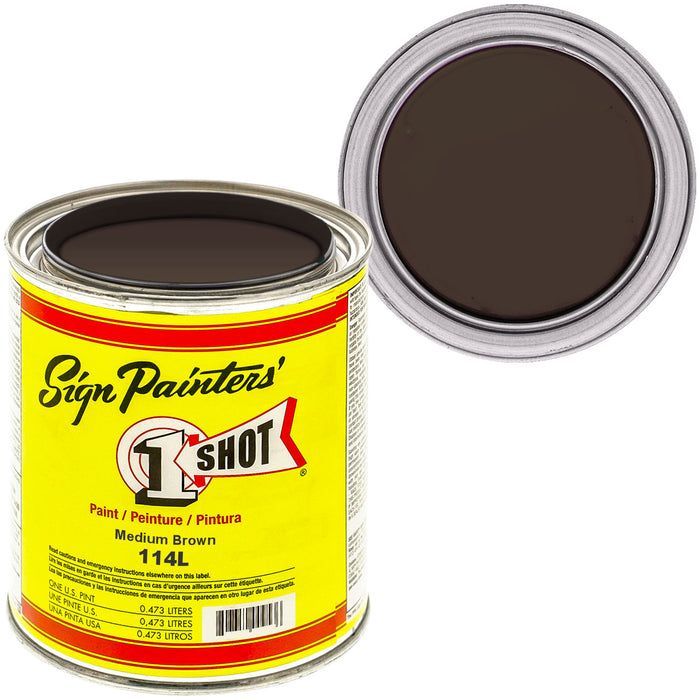 Medium Brown Pinstriping Lettering Enamel Paint, 1 Pint