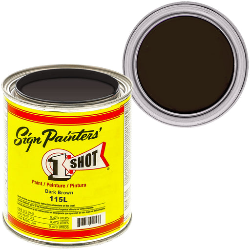 Dark Brown Pinstriping Lettering Enamel Paint, 1 Pint