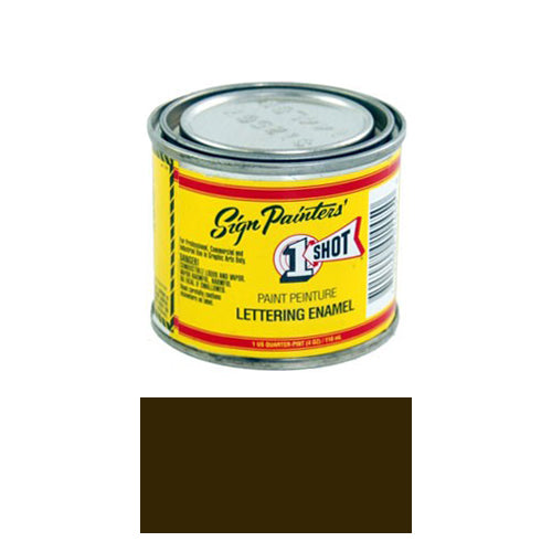 Dark Brown Pinstriping Lettering Enamel Paint, 1/4 Pint