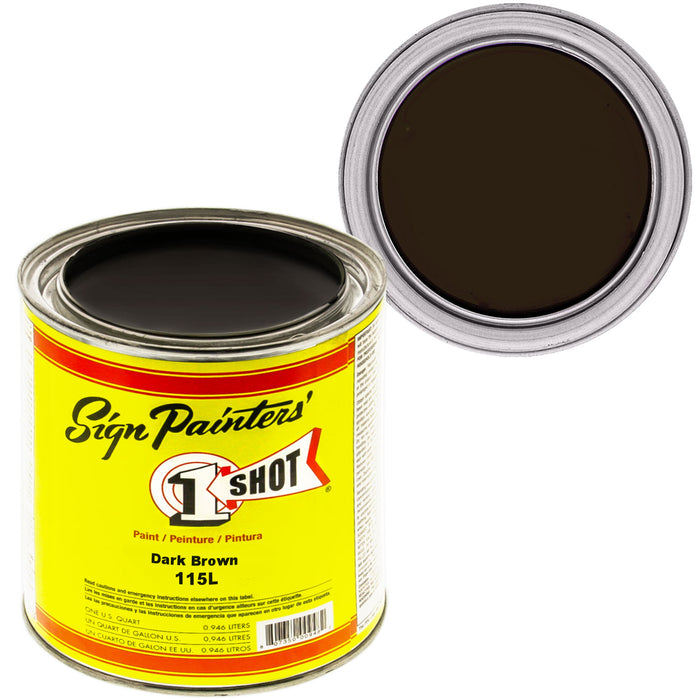 Dark Brown Pinstriping Lettering Enamel Paint, 1 Quart