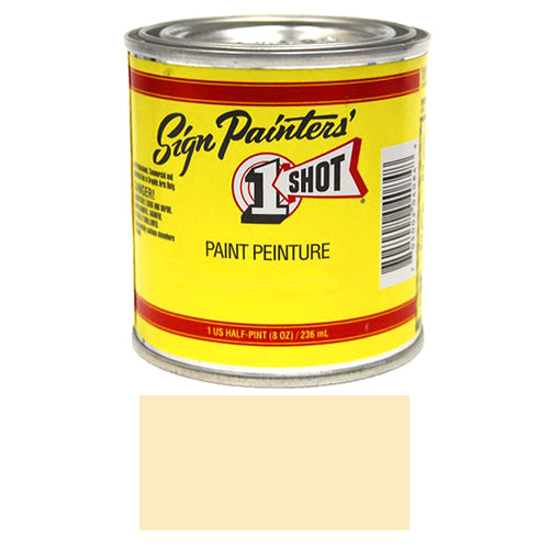 IVORY Pinstriping Lettering Enamel Paint, 1/2 Pint