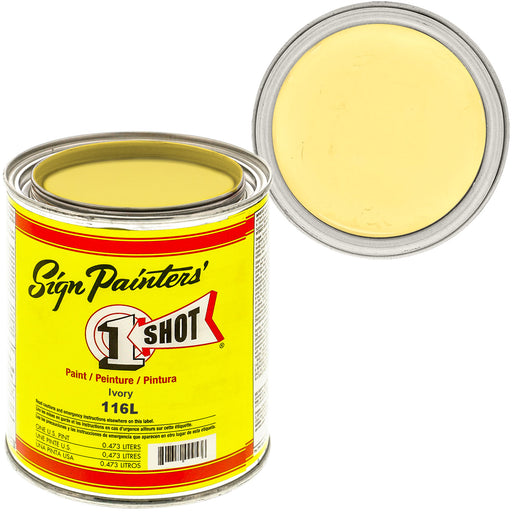 IVORY Pinstriping Lettering Enamel Paint, 1 Pint