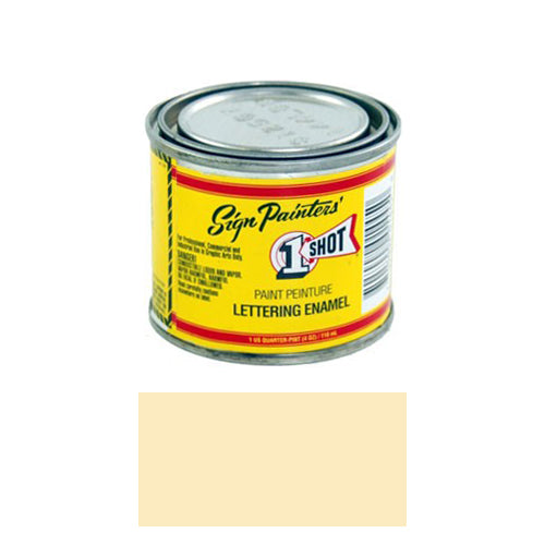 IVORY Pinstriping Lettering Enamel Paint, 1/4 Pint