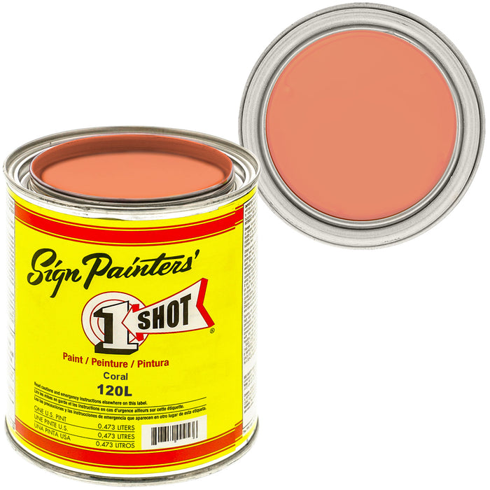 CORAL Pinstriping Lettering Enamel Paint, 1 Pint