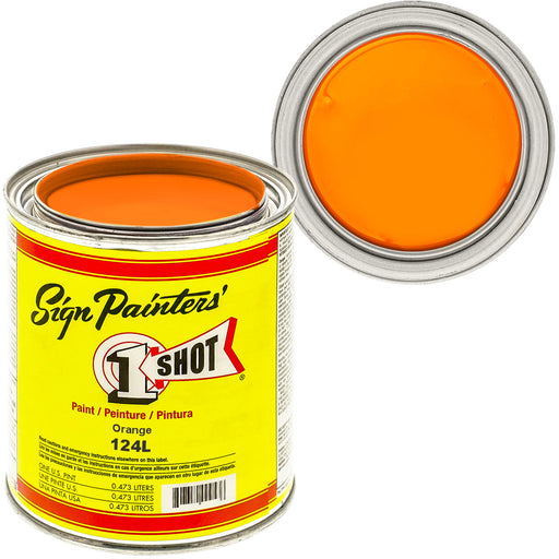 ORANGE Pinstriping Lettering Enamel Paint, 1 Pint