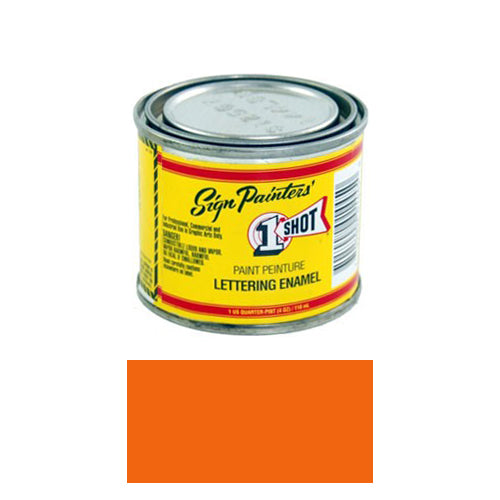 Orange Pinstriping Lettering Enamel Paint, 1/4 Pint