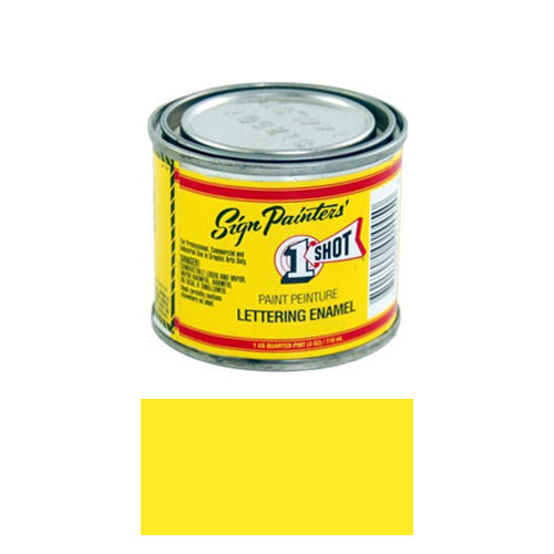 Primrose Yellow Pinstriping Lettering Enamel Paint, 1/4 Pint