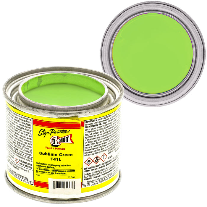 Sublime Green Pinstriping Lettering Enamel Paint, 1/4 Pint