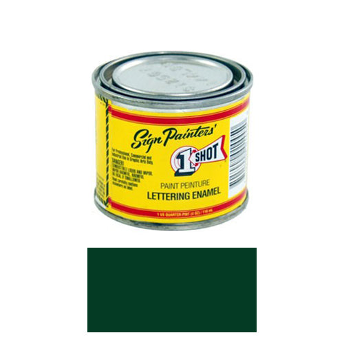 Dark Green Pinstriping Lettering Enamel Paint, 1/4 Pint