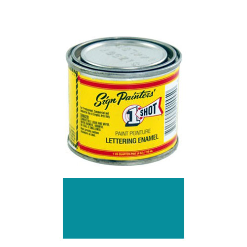 Blue Green Pinstriping Lettering Enamel Paint, 1/4 Pint