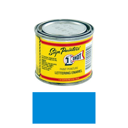 Process Blue Pinstriping Lettering Enamel Paint, 1/4 Pint