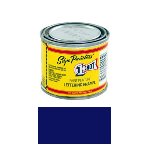 Brilliant Blue Pinstriping Lettering Enamel Paint, 1/4 Pint