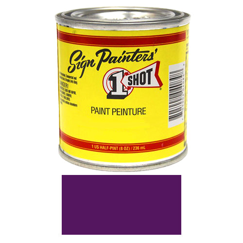 Purple Pinstriping Lettering Enamel Paint, 1/2 Pint