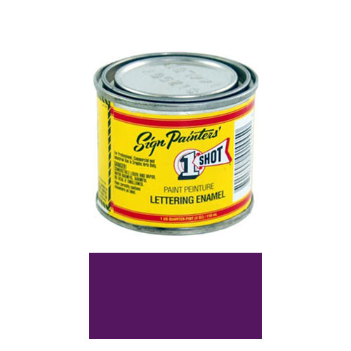 Purple Pinstriping Lettering Enamel Paint, 1/4 Pint