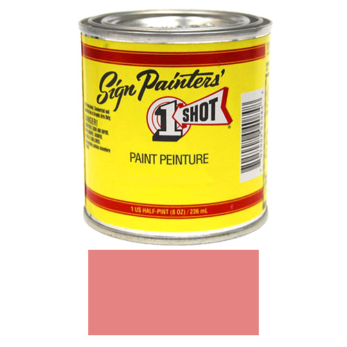 Salmon Pink Pinstriping Lettering Enamel Paint, 1/2 Pint