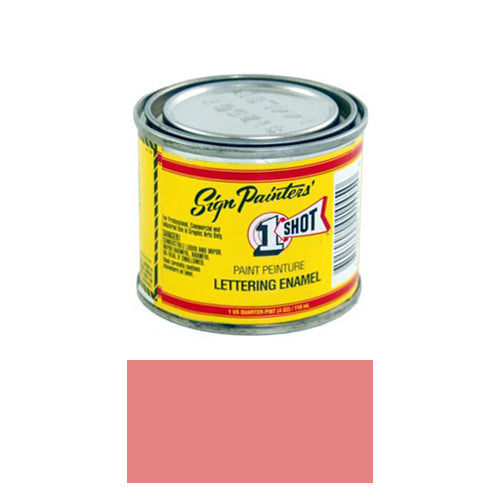 Salmon Pink Pinstriping Lettering Enamel Paint, 1/4 Pint