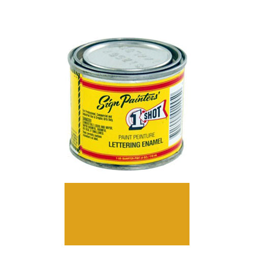 Imitation Gold Pinstriping Lettering Enamel Paint, 1/4 Pint