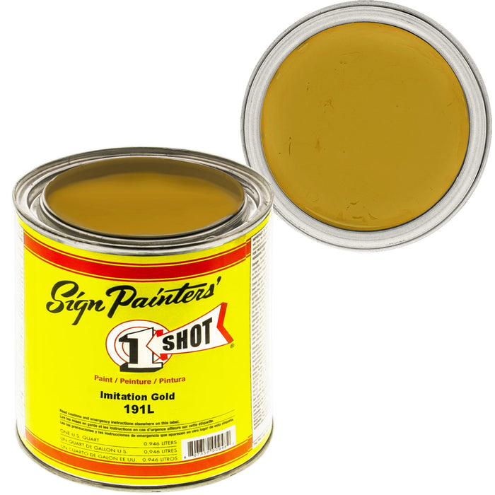 Imitation Gold Pinstriping Lettering Enamel Paint, 1 Quart