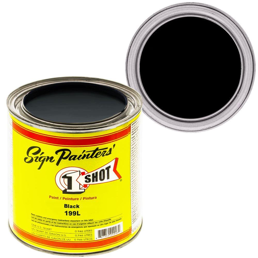 BLACK Pinstriping Lettering Enamel Paint, 1 Quart