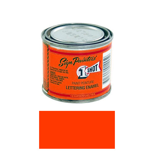 Fluorescent Red Orange Pinstriping Lettering Enamel Paint, 1/4 Pint