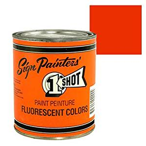 Fluorescent Red Orange Pinstriping Lettering Enamel Paint, 1 Quart