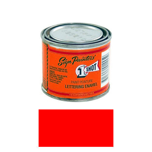 Fluorescent Red Pinstriping Lettering Enamel Paint, 1/4 Pint