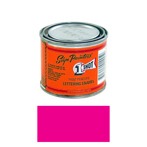 Fluorescent Pink Pinstriping Lettering Enamel Paint, 1/4 Pint