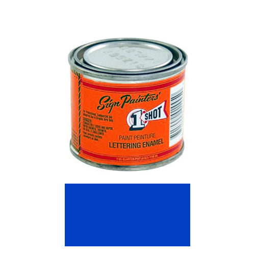 Fluorescent Blue Pinstriping Lettering Enamel Paint, 1/4 Pint