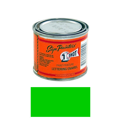 Fluorescent Green Pinstriping Lettering Enamel Paint, 1/4 Pint