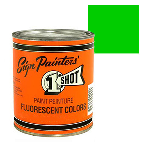 Fluorescent Green Pinstriping Lettering Enamel Paint, 1 Quart