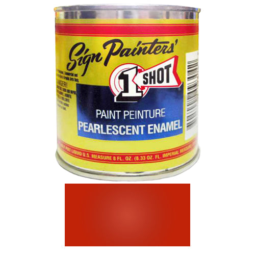Pearlescent Bright Red Pinstriping Lettering Enamel Paint, 1/2 Pint