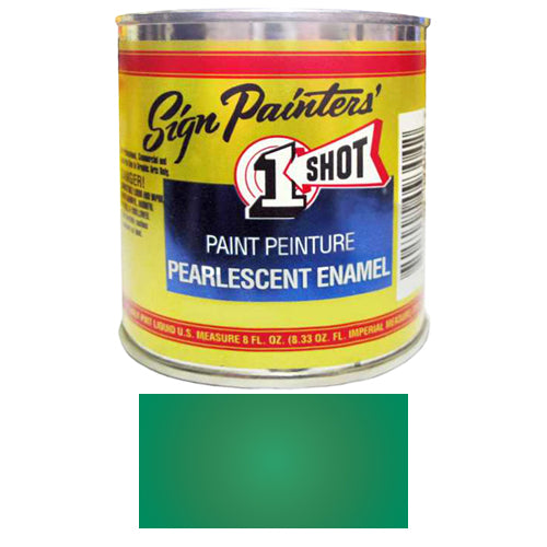 Pearlescent Process Green Pinstriping Lettering Enamel Paint, 1/2 Pint