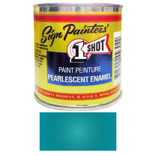 Pearlescent Blue Green Pinstriping Lettering Enamel Paint, 1/2 Pint