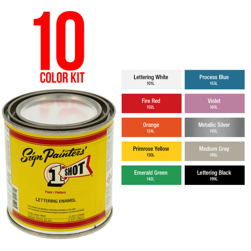 Primary 10 Color Enamel Kit, 1/4 Pint