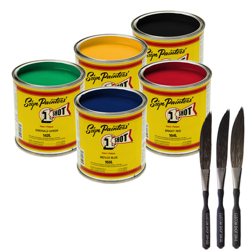 Secondary Colors 5 Color Striping Enamel Kit, 1/4 Pint Cans