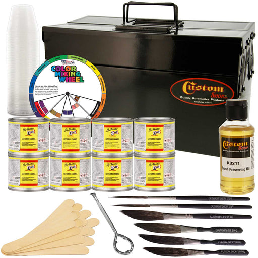 One Shot Complete Striper Pinstriping Starter Kit - 8 Colors