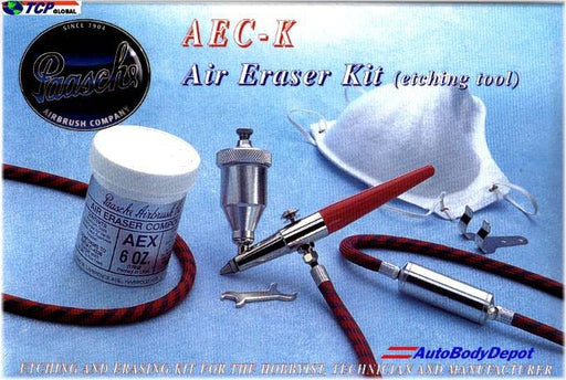 Aec Air Eraser Fine Detail Abrasive Etching Tool Kit with 6 oz Compound, Hose, Wrench, Hanger & Respirator