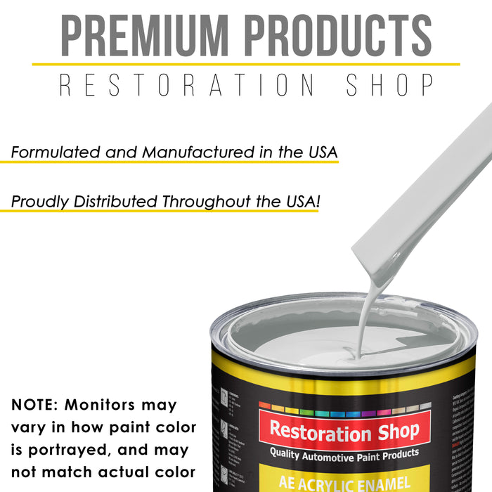 Classic White Acrylic Enamel Auto Paint - Gallon Paint Color Only - Professional Single Stage High Gloss Automotive, Car, Truck, Equipment Coating, 2.8 VOC