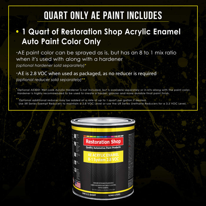 Grand Prix White Acrylic Enamel Auto Paint - Quart Paint Color Only - Professional Single Stage High Gloss Automotive, Car, Truck, Equipment Coating, 2.8 VOC