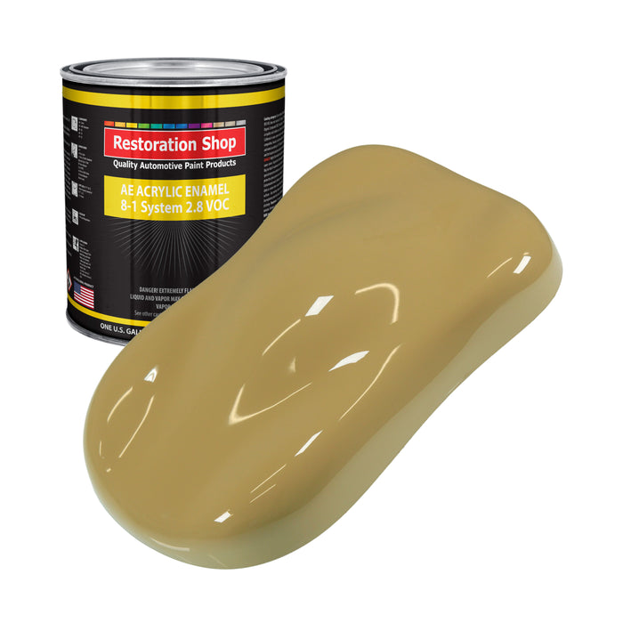 Buckskin Tan Acrylic Enamel Auto Paint - Gallon Paint Color Only - Professional Single Stage High Gloss Automotive, Car, Truck, Equipment Coating, 2.8 VOC