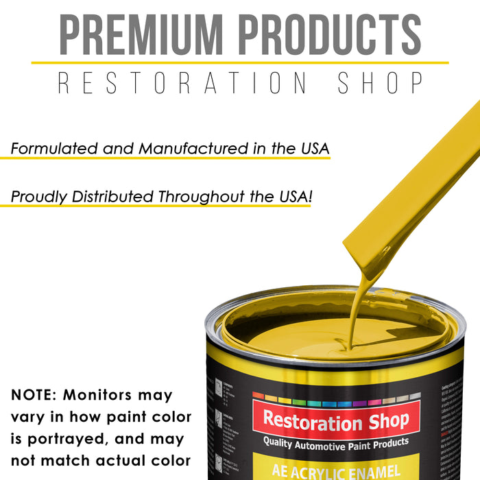 Daytona Yellow Acrylic Enamel Auto Paint - Gallon Paint Color Only - Professional Single Stage High Gloss Automotive, Car, Truck, Equipment Coating, 2.8 VOC