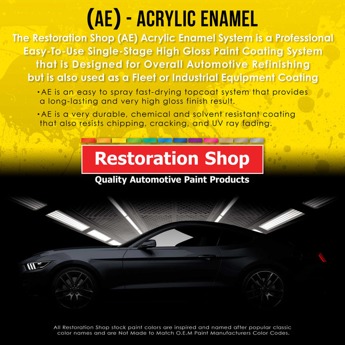 Springtime Yellow Acrylic Enamel Auto Paint - Complete Gallon Paint Kit - Professional Single Stage High Gloss Automotive, Car Truck, Equipment Coating, 8:1 Mix Ratio 2.8 VOC