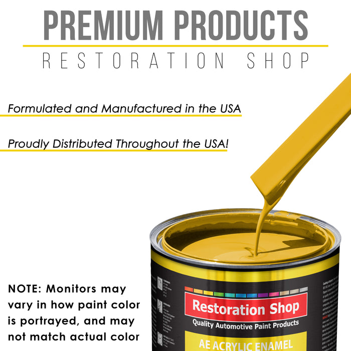 Canary Yellow Acrylic Enamel Auto Paint - Gallon Paint Color Only - Professional Single Stage High Gloss Automotive, Car, Truck, Equipment Coating, 2.8 VOC