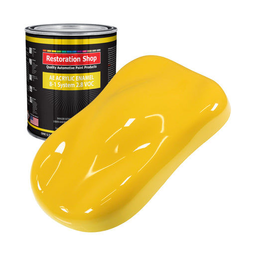 Sunshine Yellow Acrylic Enamel Auto Paint - Gallon Paint Color Only - Professional Single Stage High Gloss Automotive, Car, Truck, Equipment Coating, 2.8 VOC