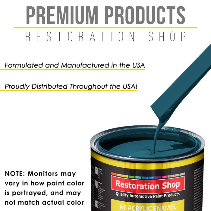 Transport Blue Acrylic Enamel Auto Paint - Complete Quart Paint Kit - Professional Single Stage High Gloss Automotive, Car, Truck, Equipment Coating, 8:1 Mix Ratio 2.8 VOC
